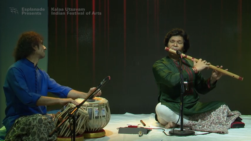 Rakesh Chaurasia plays poignant night (rajani) ragas on his bansuri.