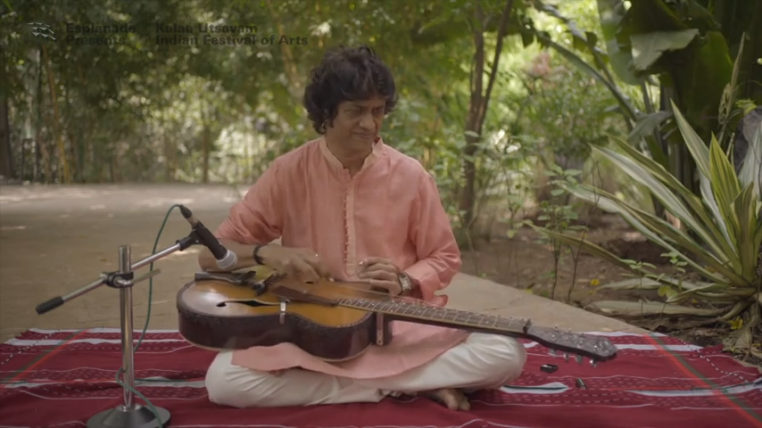 swara prabath or morning musical notes, performed by Manish Pingle on the mohan veena.