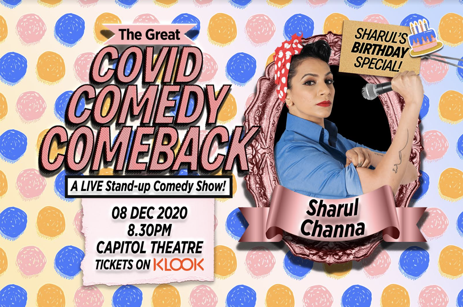 Catch 'The Great Covid Comedy Comeback' at the Capitol Theatre on December 8, at 8.30pm. Photo courtesy: Sharul Channa