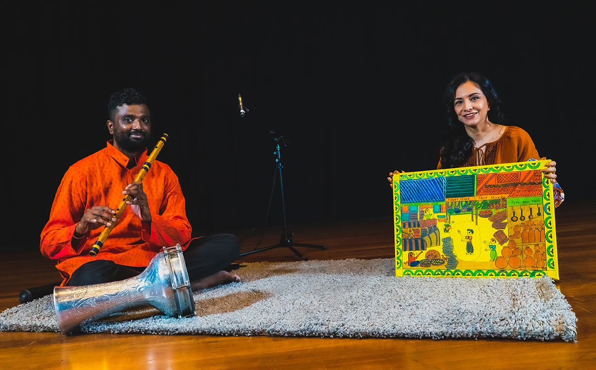 Musician Raghavendran Rajasekaran (left) has also worked together with Kamini (right) a few times. Photo Courtesy: Kalaa Utsavam
