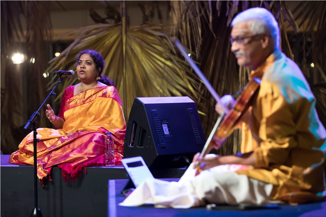 Singapore Indian Fine Arts Society presented three compositions as salves to the soul. Photo courtesy: Esplanade