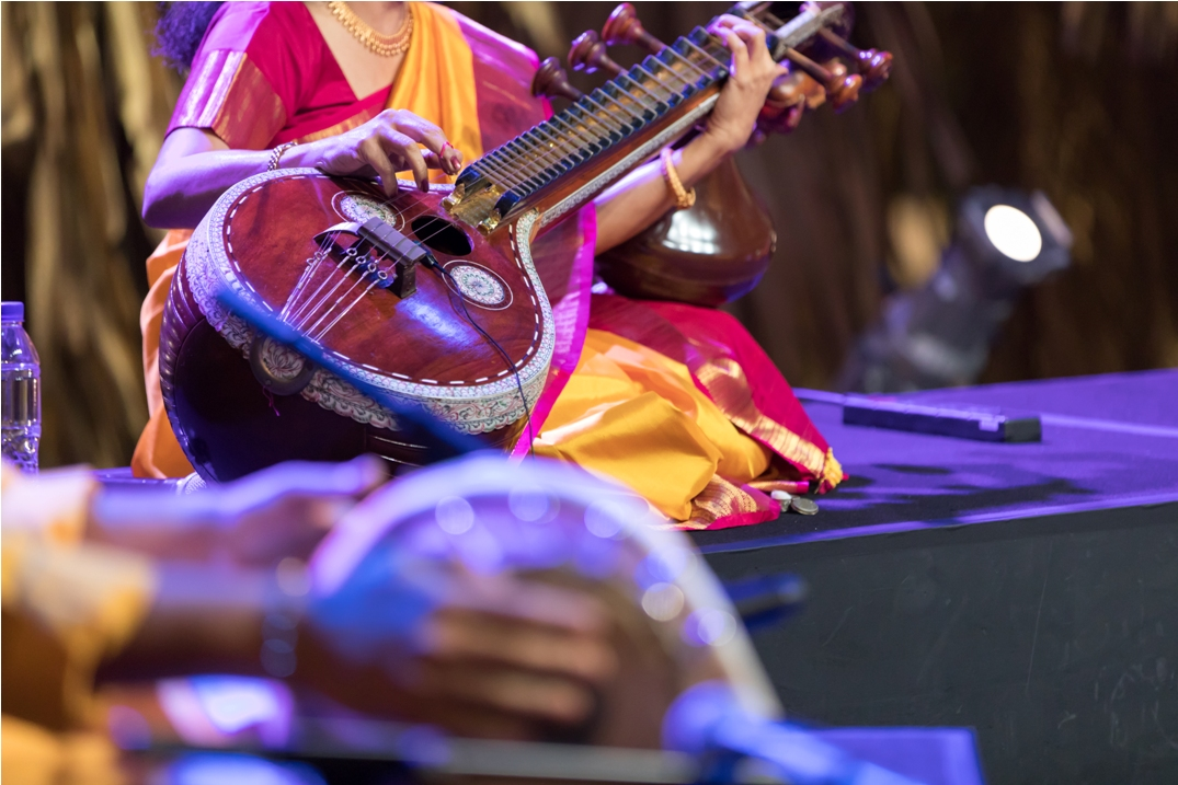 The performance featured the vocals of Janaki Sadagopan, NNR Ganesh Kumar on the violin, Manjula Surendra on the veena and Tripunithura Sreekanth on the mridangam. Photo courtesy: Esplanade