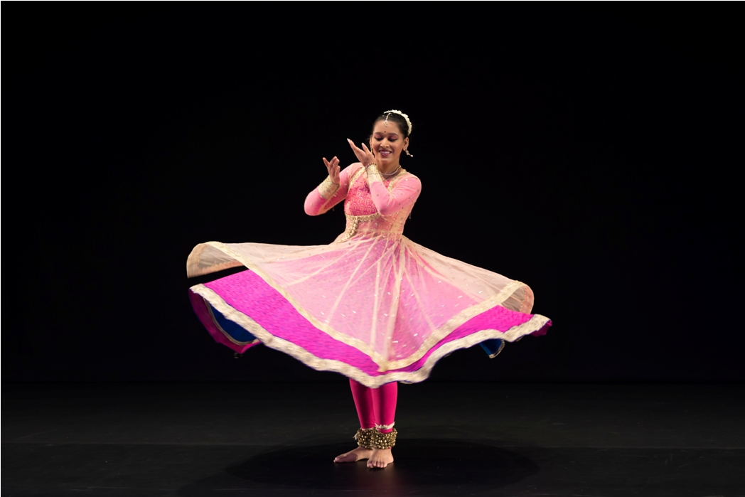 Saanika started to learn kathak at an age of five. Photo courtesy: Esplanade
