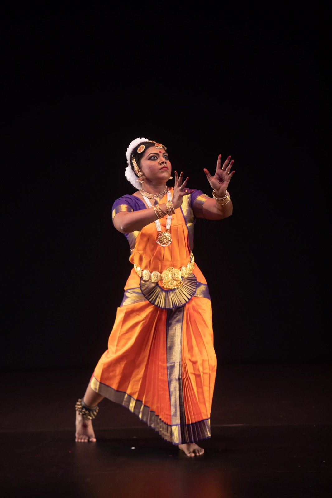 Thulasi Sharma has been learning bharatanatyam for 16 years and kathak for seven years. Photo courtesy: Esplanade