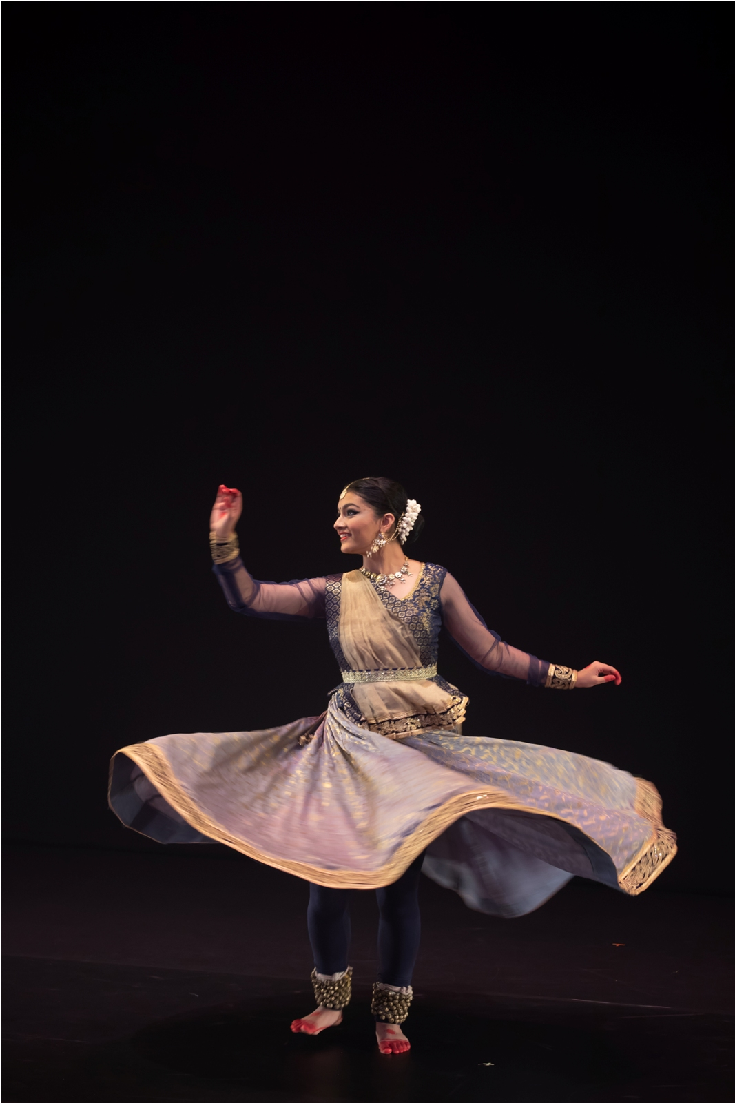 Aarya Kini's kathak journey began when she was seven years old. Photo courtesy: Esplanade