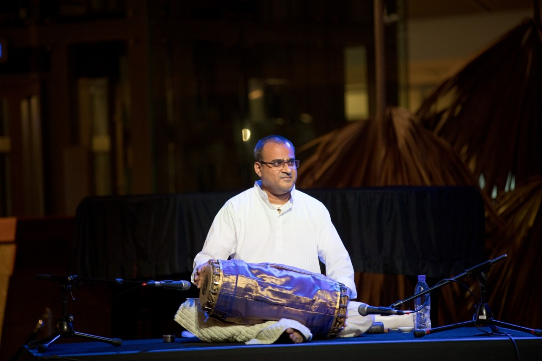 On the Mridangam is Trivandrum D Rajagopal. Photo courtesy: Esplanade