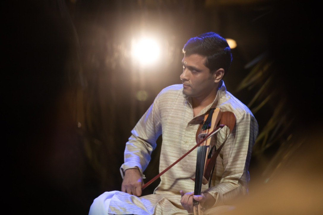 Bombay V Anand has performed extensively in many sabhas and organisations around the world. Photo courtesy: Esplanade