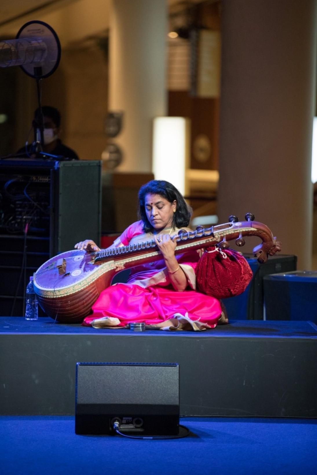 Veena: Nirmala Rajandra. Photo courtesy: Esplanade