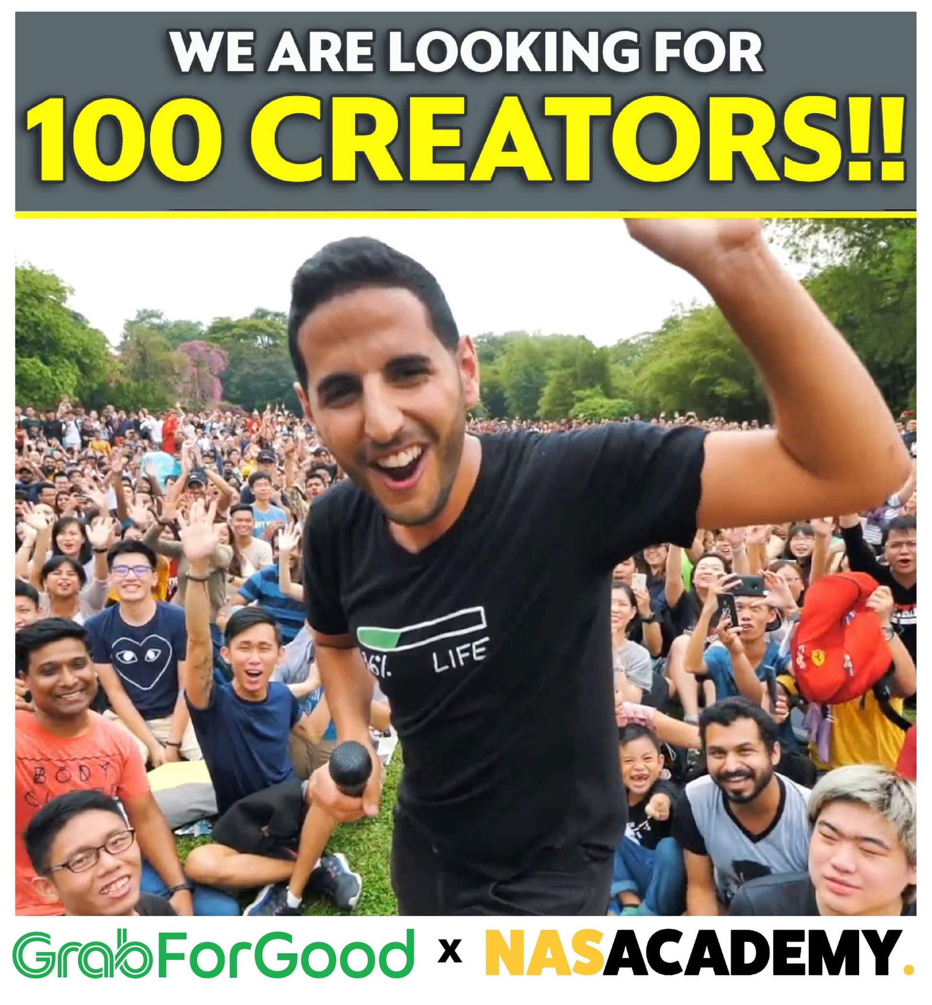Grab is partnering NAS Academy to groom 100 budding content creators across Asia. Photo courtesy: Grab