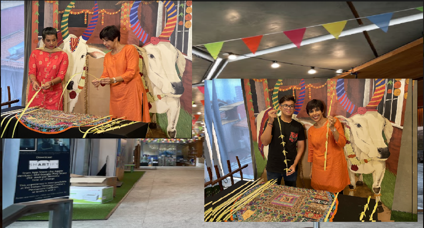 Pongal Hands-on Experience at Indian Heritage Centre, Singapore as part of Pongal 2021. Photo Courtesy:  IHC