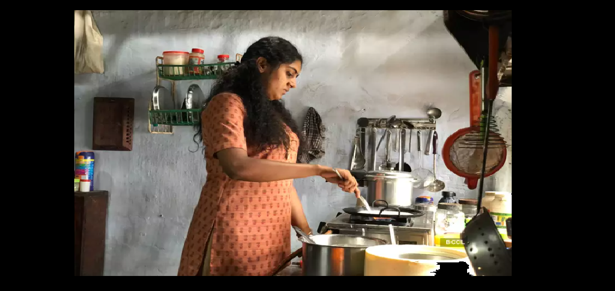 The Great Indian Kitchen feels like a virgin look at that kitchen because for a change it is not glorified the drudgery. Photo Courtesy: Screengrab/NeeStream