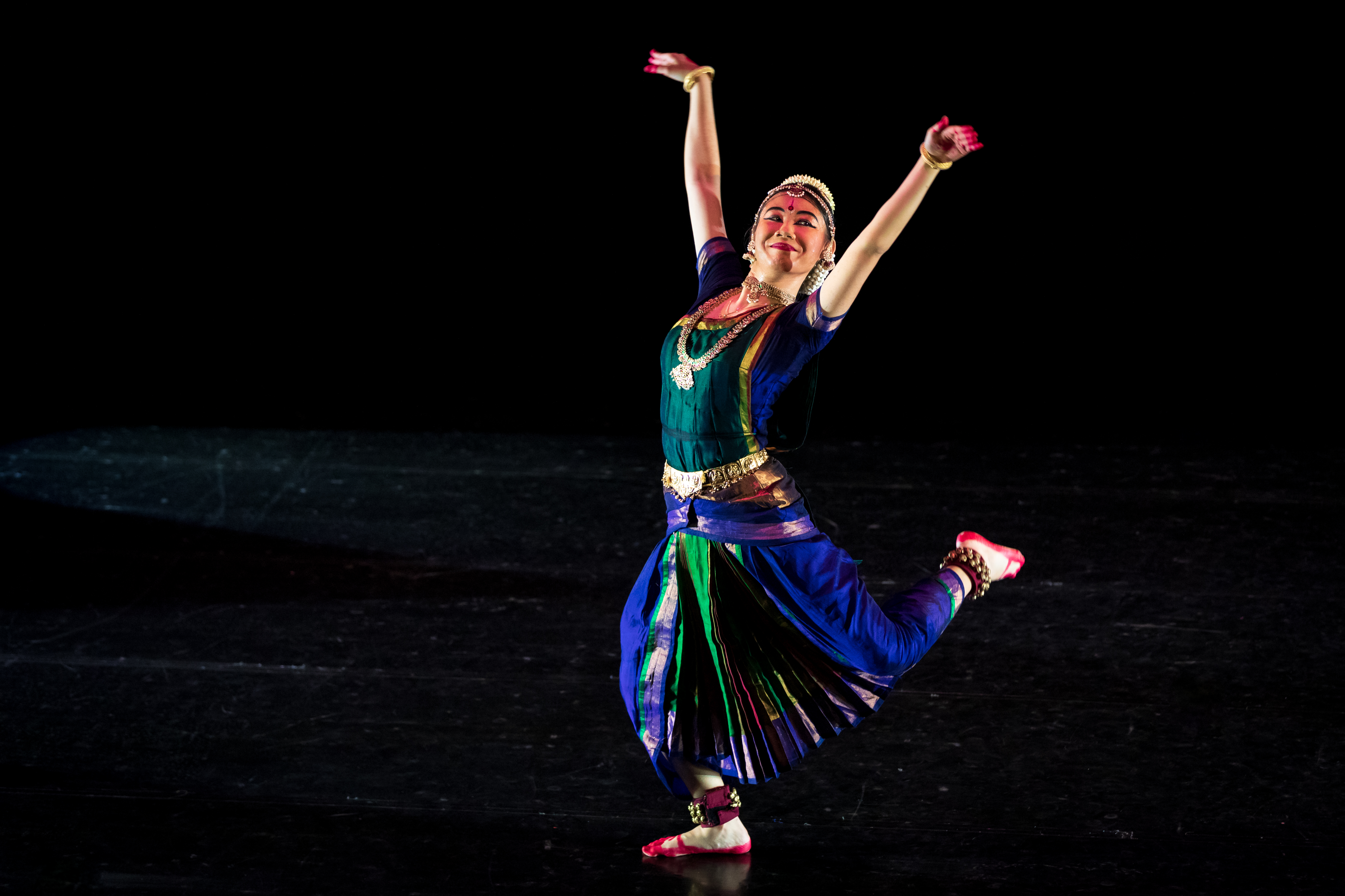 Of the 6 items Mei Fei performed at the Goodman Arts Centre Black Box, the Shabdam, Thillai Ambalam was her second piece. Photo Courtesy: Apsaras Arts
