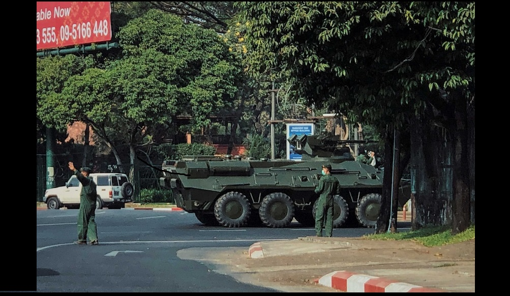 According to social media reports streets in the capital were quiet overnight while troops and riot police took up positions. Photo Courtesy: Twitter