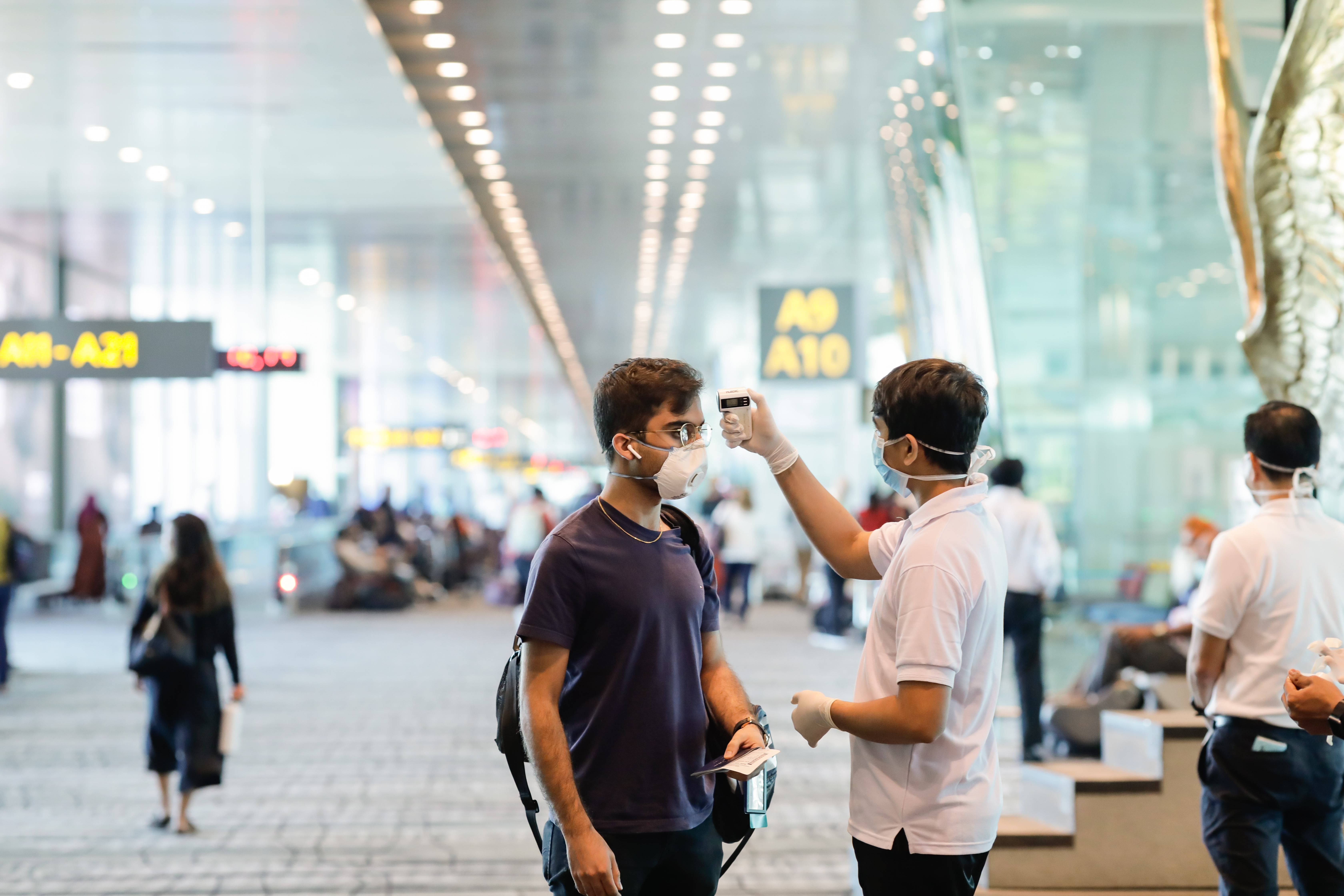 traveller numbers fell 80.6 per cent to about 42.1 million last year as countries imposed strict border control measures.