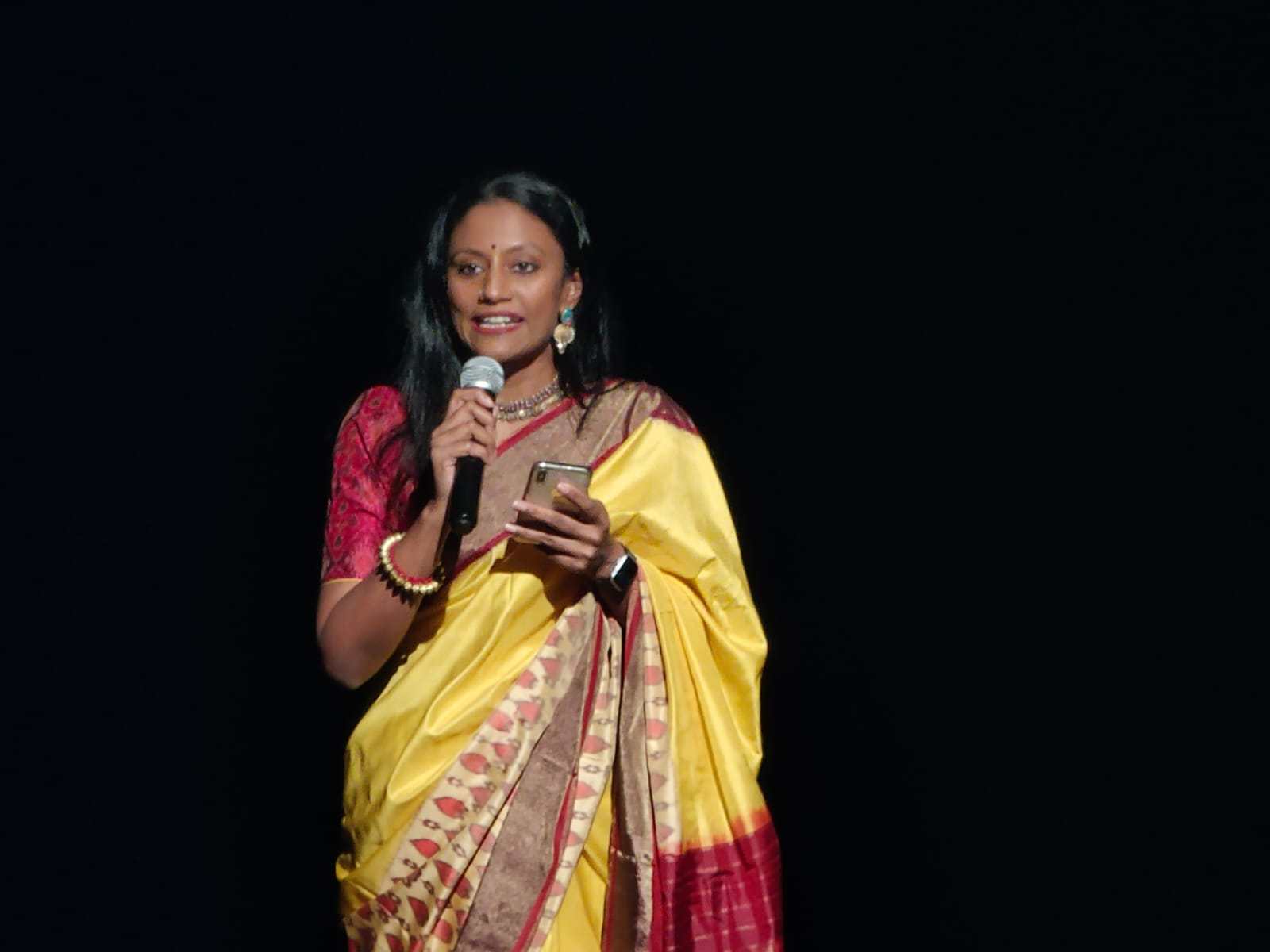 Meera said she was elated to receive an award named after Neila maami, a pioneer in promoting Indian arts and culture in Singapore. Photo: Connected to India