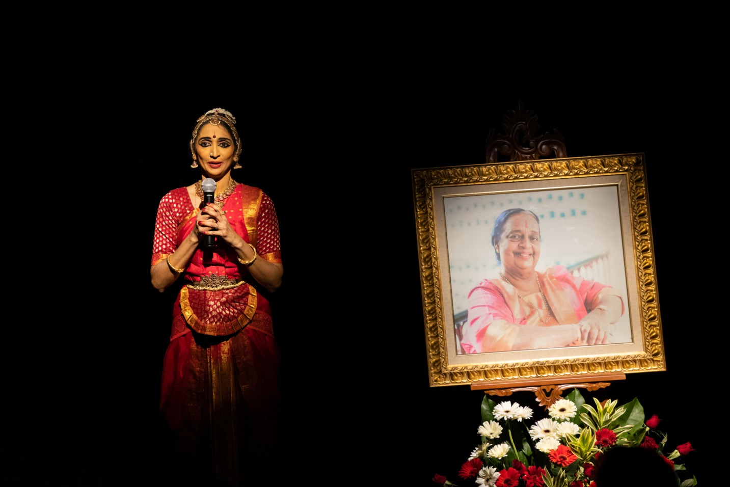 A thematic solo Bharatanatyam at the close of the Remembering Neila Sathyalingam Day. Photo Courtesy: Apsaras Arts