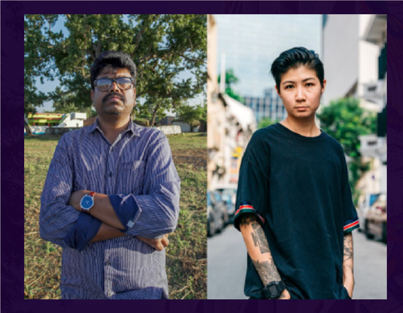 St+art India Foundation and the Singapore Tourism Board made it possible for Shyam Bhajju (left) and Sam Lo (right) to be a part of AWLI 2021 by LASALLE College of the Arts. Photo Courtesy: AWLI