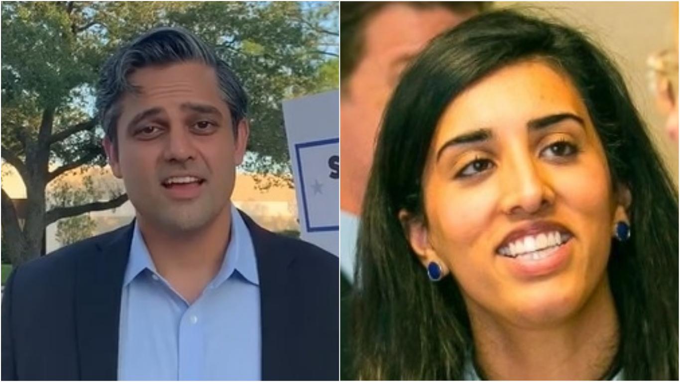 Sri Preston Kulkarni (left) and Sonali Nijhawan (right). Photos courtesy: Facebook and LinkedIn
