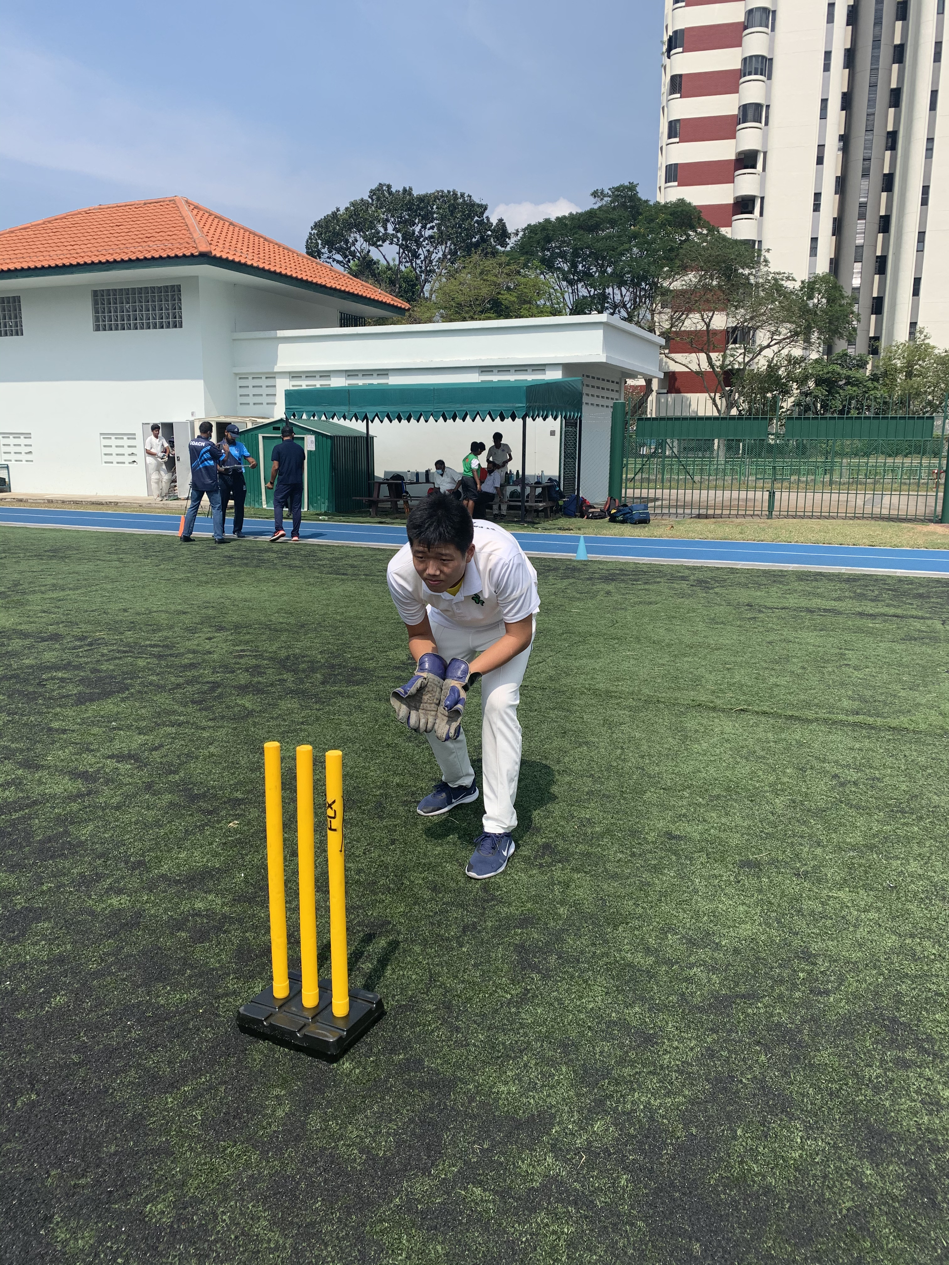 Alonzo Au, a wicket-keeper whose idol is MS Dhoni, was brought to cricket at a young age when he saw his neighbourhood friends in Little India playing the game and joined them.