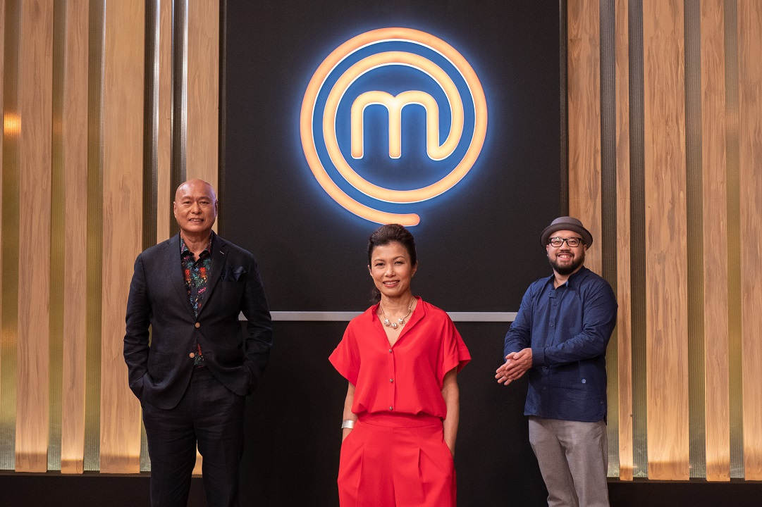 MasterChef Singapore judges (left-right) Damian D'Silva, Audra Morrice and Bjorn Shen. Photo courtesy: Mediacorp