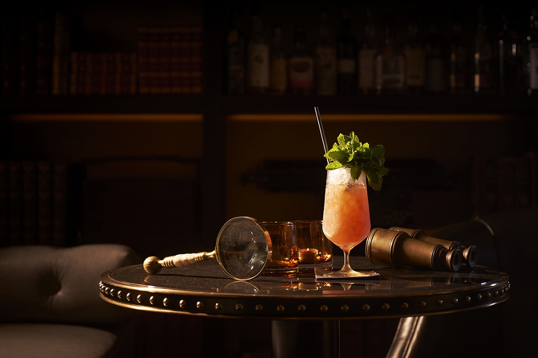 Agent Provocateur, a blended cocktail made with Blandy's 5 Year Bual Madeira, El Dorado 12, Concord  Grenadine, lemon and mint. Photo: Raffles Hotel Singapore