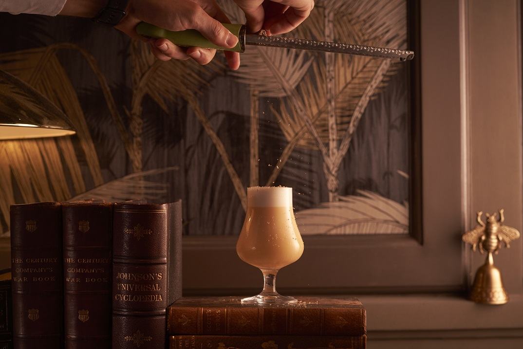 Wrath - a dessert-styled cocktail based on the motifs in the novel. Photo: Raffles Hotel Singapore