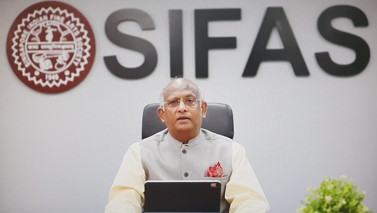 SIFAS President KV Rao invited was the Guest of Honour at the online function to mark the signing of the MoU. Photo courtesy: SIFAS
