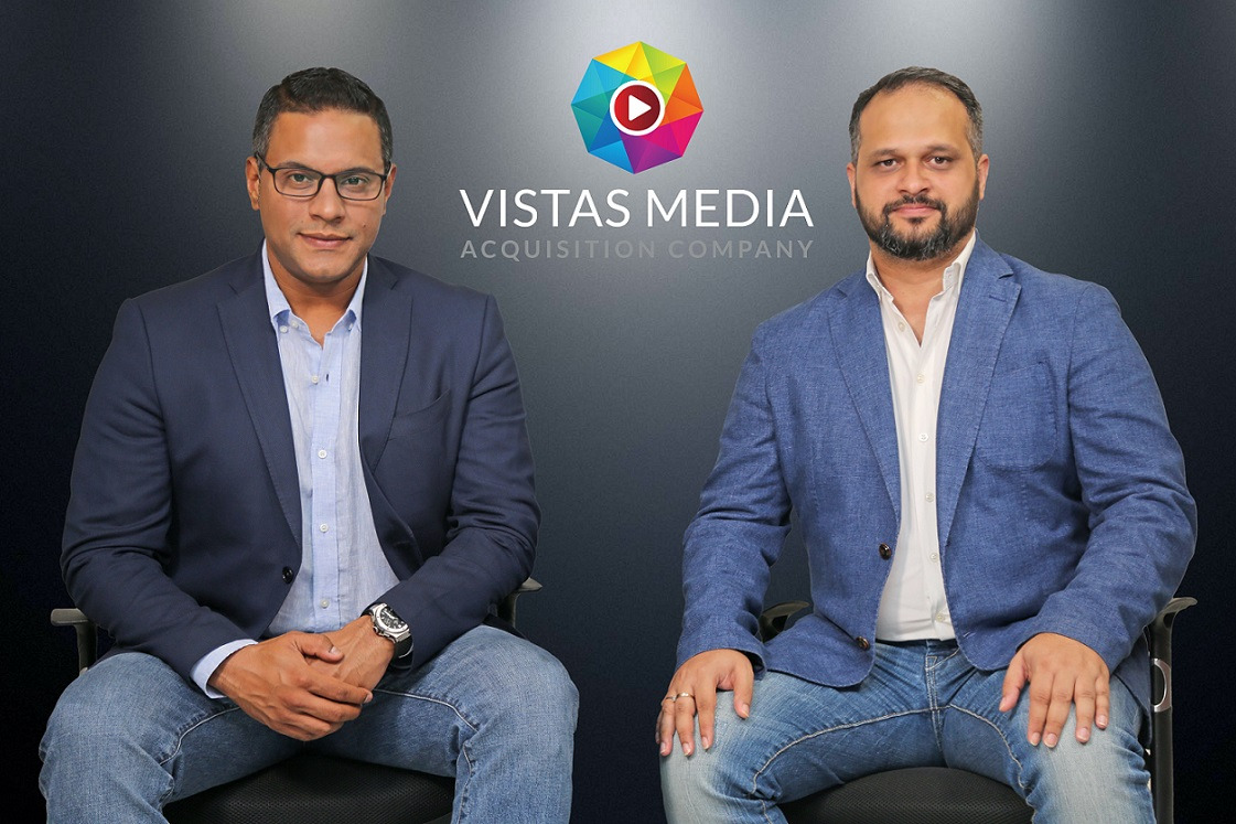 VMAC is led by Singapore-based co-founders Saurabh Gupta (left) and Abhayanand Singh. Photo courtesy: Vistas Media Acquisition Company