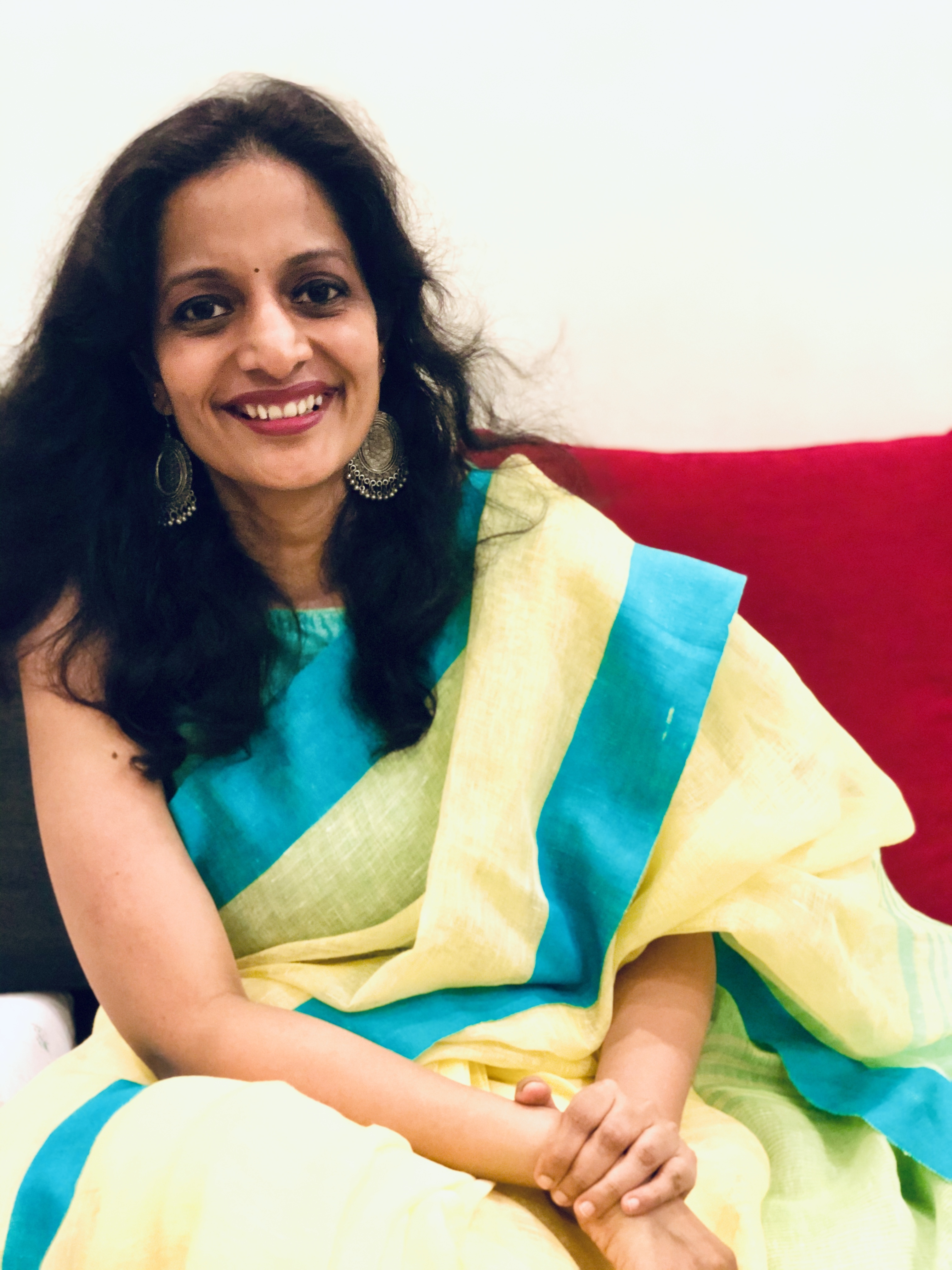 Hailing from Thrissur, Kerala, Shilpa relocated to Singapore in 1999. Photo courtesy: Kathaa Studios