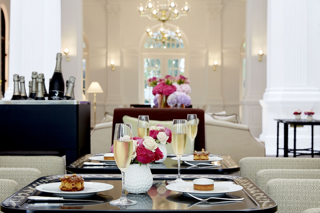 Pair the culinary delights on offer with champagne. Photo courtesy: Raffles Hotel Singapore
