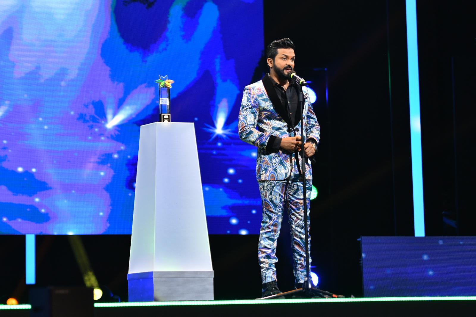 Jaya Ganesh Isuran named Most Popular Male Artiste. Photo courtesy: Mediacorp