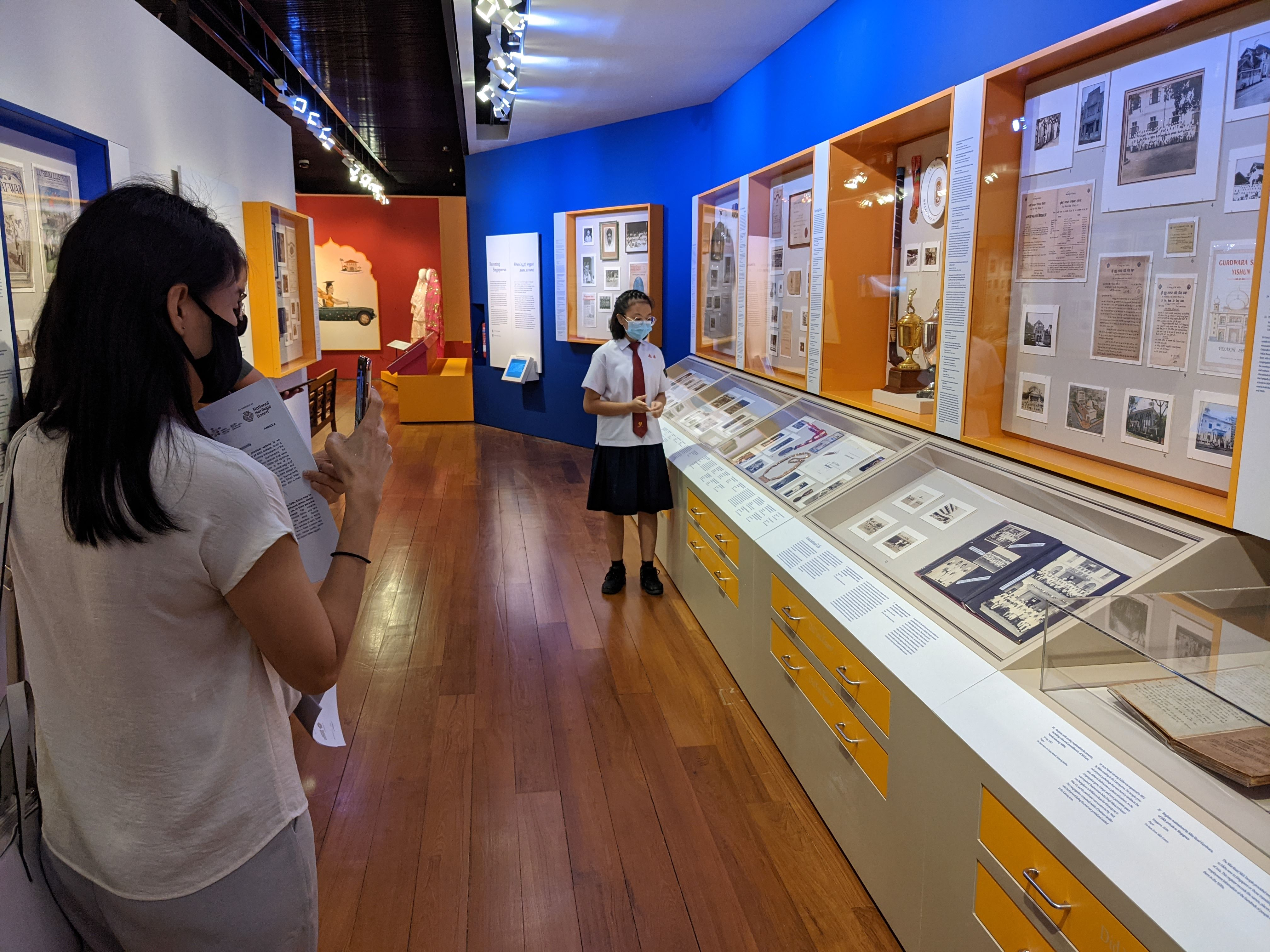 As part of IHC's signature student guide programme, students from the Singapore Sikh Education Foundation and Nan Chiau High School will lead their schoolmates on tours of the exhibition.