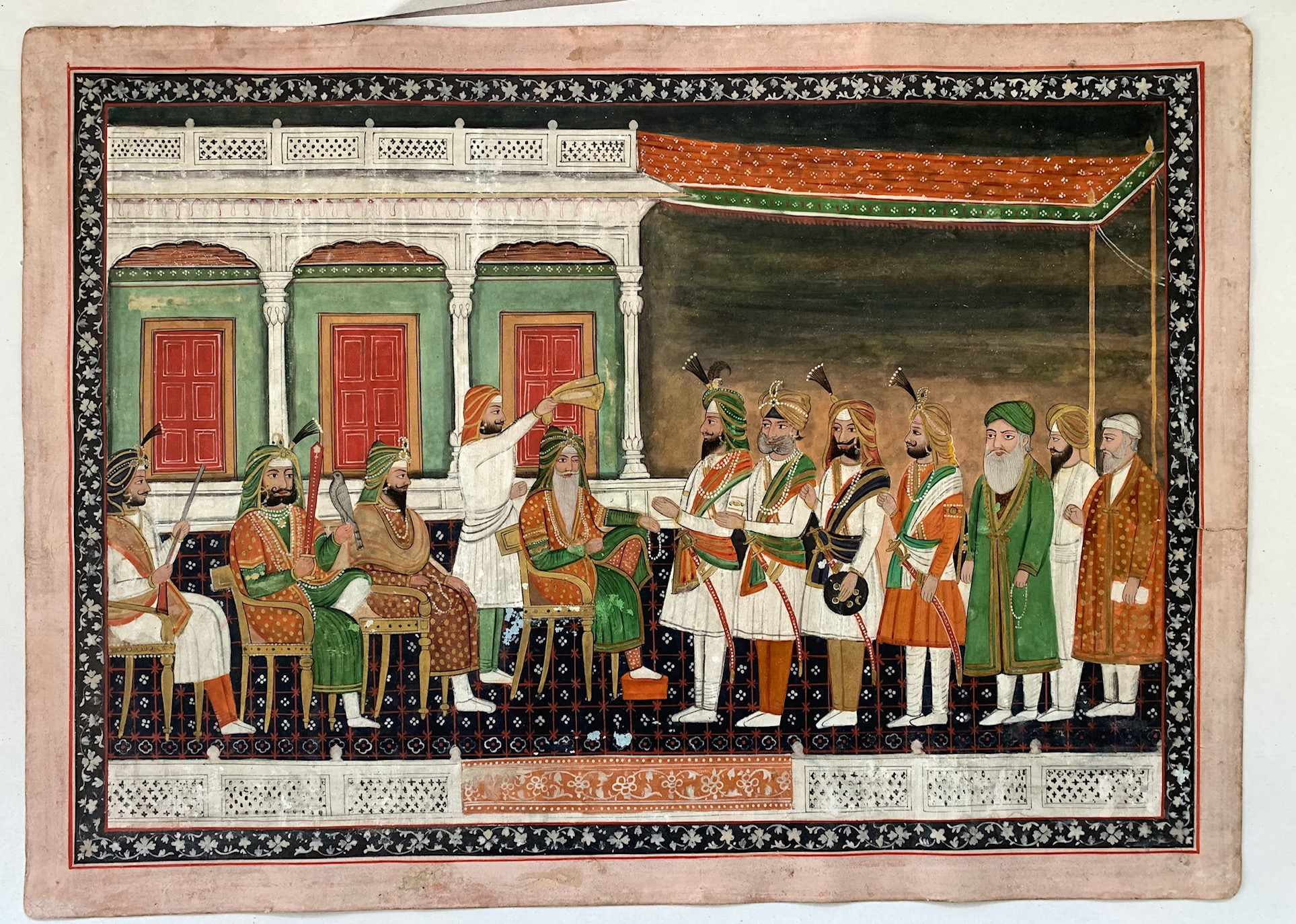 A painting of the court of Ranjit Singh. Photo courtesy: Manraj S Sekhon