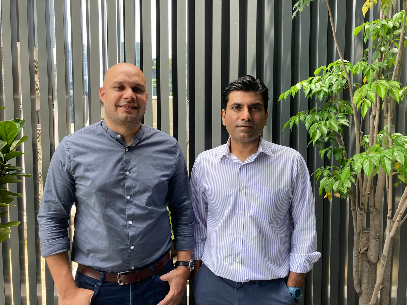 Fewcents Co-Founders Dushyant Khare (left) and Abhishek Dadoo (right). Photo courtesy: Fewcents