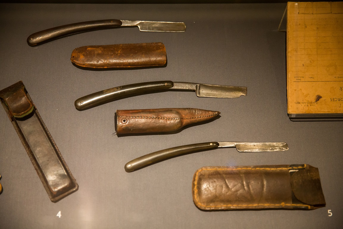Shaving set from the 1940s, part of the Leather and metal collection of the National Museum of Singapore. Photo courtesy: CCM