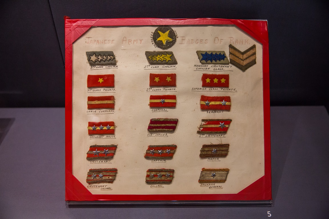 Japanese army insignias. Photo courtesy: CCM
