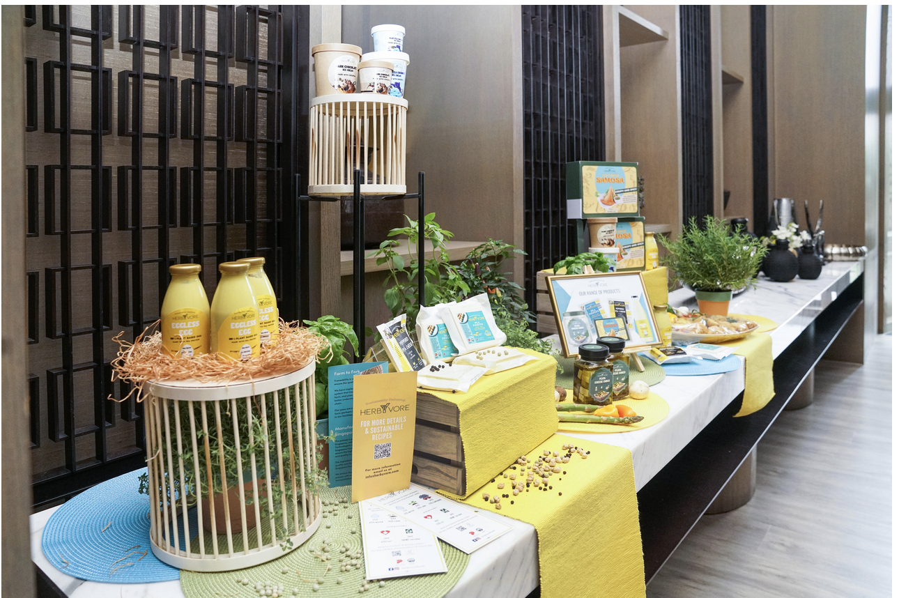 Display of HerbYvore products from the launch in Singapore. Photo courtesy: Agrocorp
