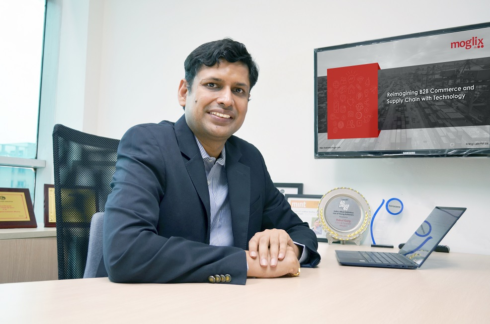 Rahul Garg, Founder & CEO, Moglix. Photo courtesy: Moglix