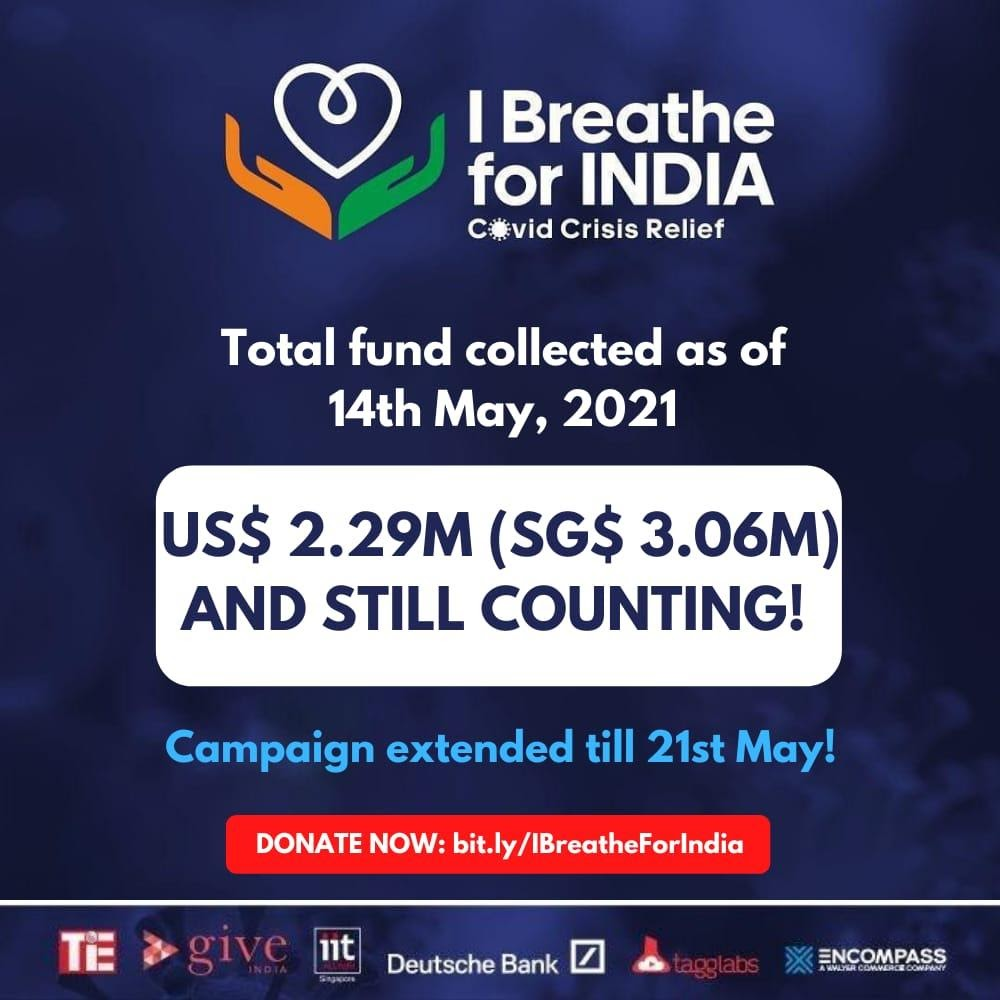 At the culmination of the campaign on May 21, 2021, all the partners involved will work closely with various accredited agencies including Singapore Red Cross, Swasth, ACT Grands and Mission Oxygen to address four major areas of COVID-19 relief efforts in India