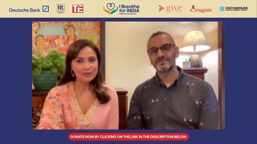 'I Breathe for India' celebrity fundraiser co-hosted by Bollywood star Lara Dutta and wellness expert Shayamal Vallabhjee.