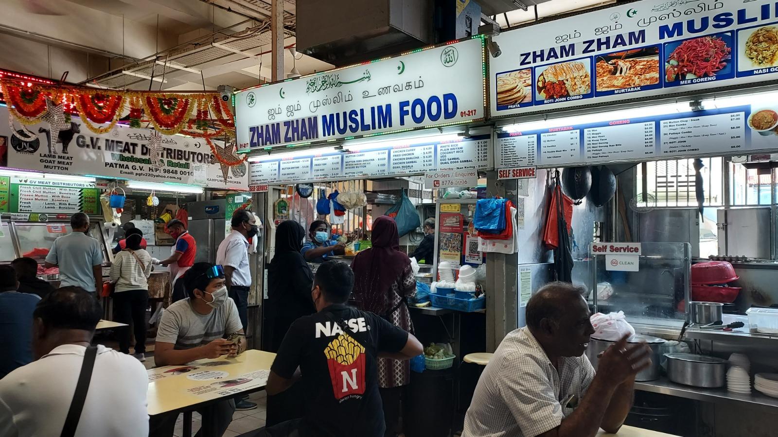 Zham Zham Muslim Food at Tekka Centre. Photo courtesy: Fanzura Banu