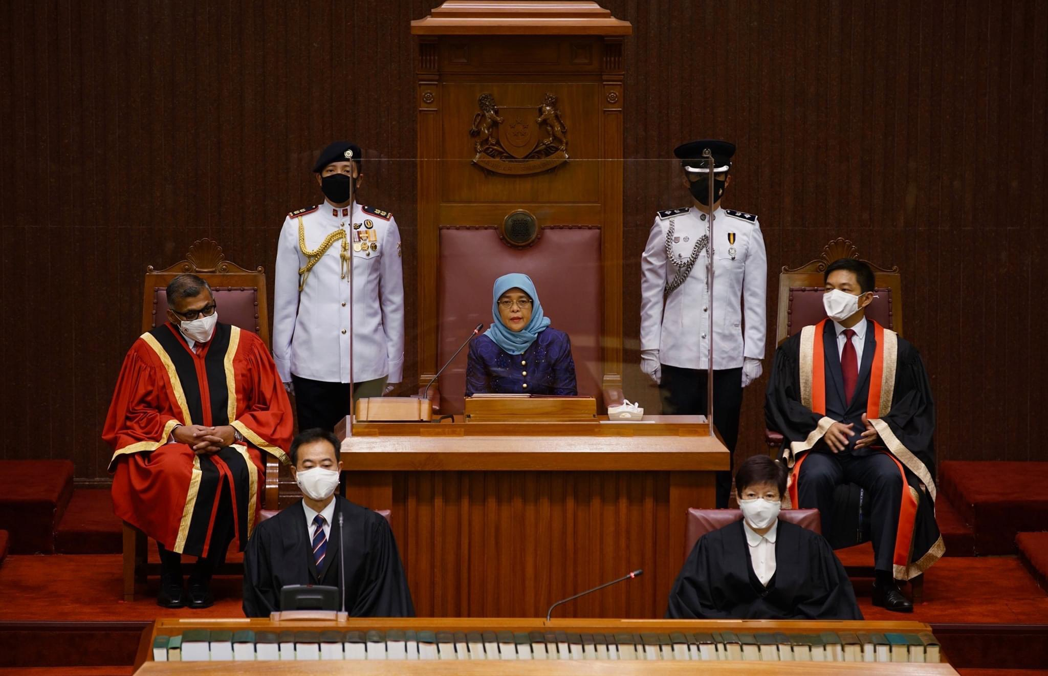 Addressing allegations online that among those who participated in the poll were people studying to become religious teachers, Halimah said the community has to