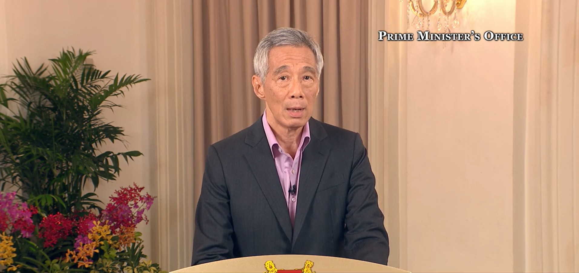 PM Lee addressing the nation on bringing the COVID-19 outbreak under control. Screenshot: Facebook/Lee Hsien Loong