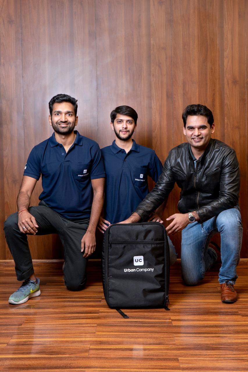 (from left) Varun Khaitan, Raghav Chandra and Abhiraj Singh Bhal, the co-founders of Urban Company. Photo courtesy: Urban Company