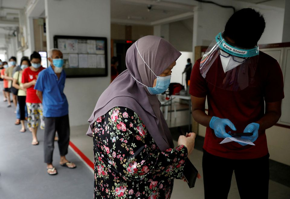 In total there are 4 new COVID cases in Singapore today, the lowest in nearly four months. Photo courtesy: Reuters