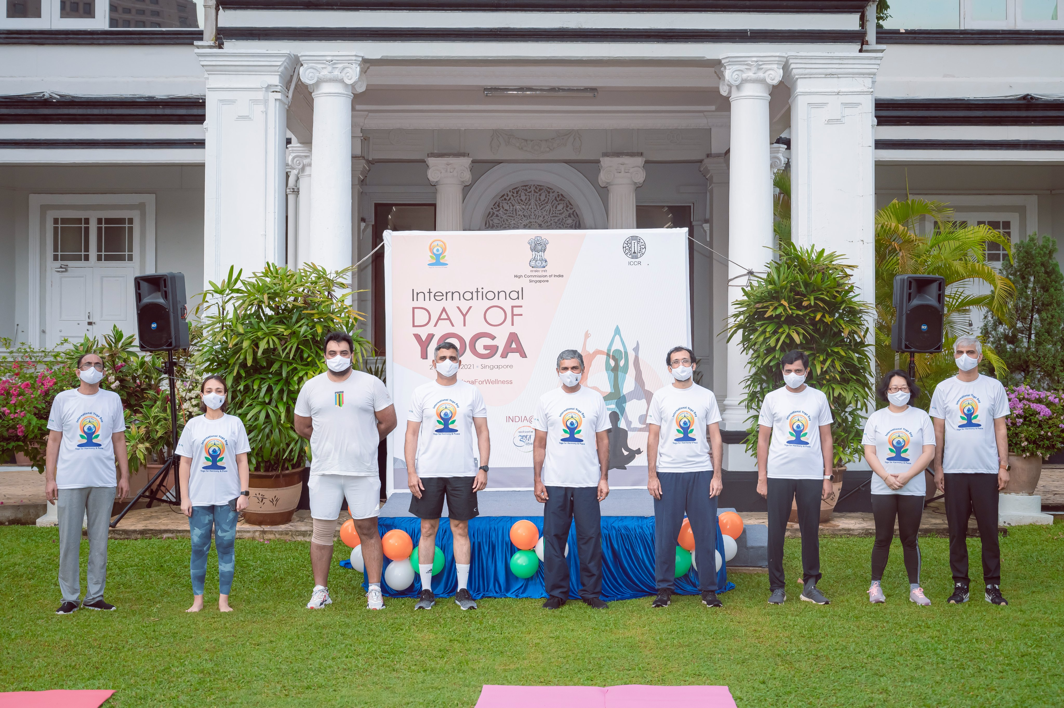 High Commissioner P Kumaran said that there were 56 yoga instructors, studios, organisations and community centres who took part in the sessions.