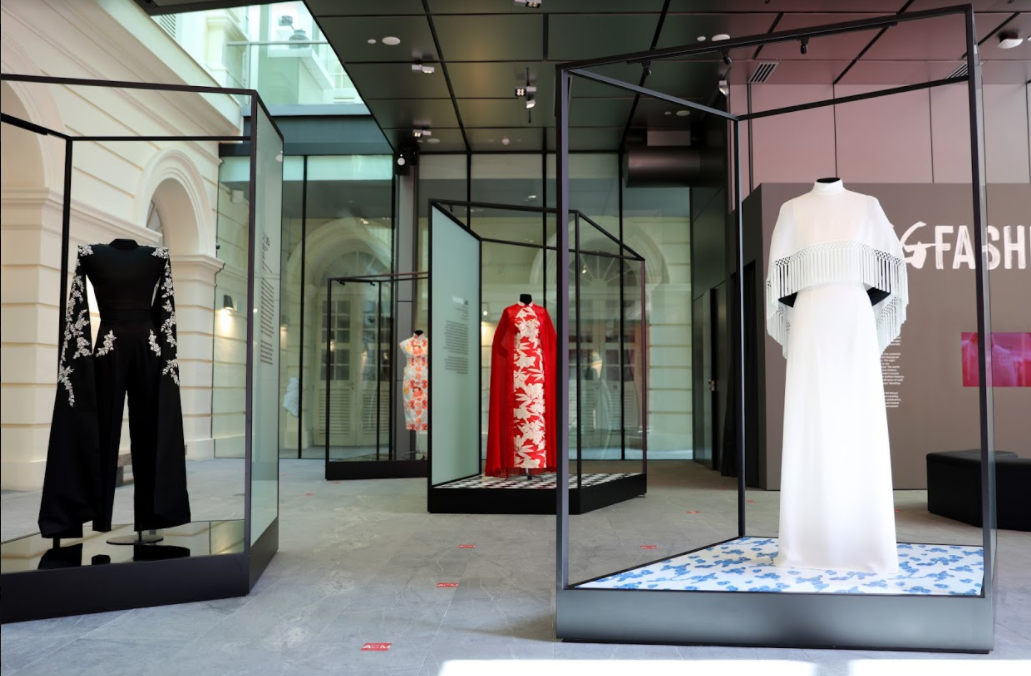 The anchor display of Singapore's fashion identities is located at the Contemporary Gallery in the heart of the museum.