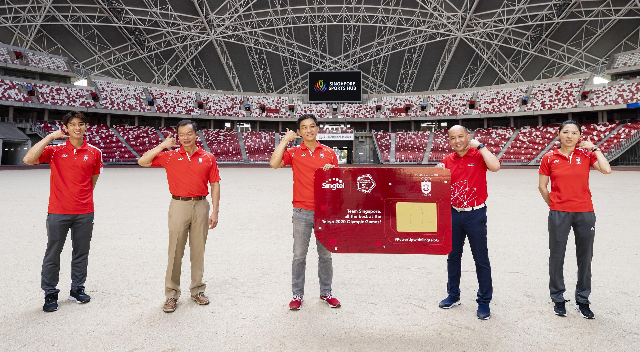 Team Singapore Athlete and Singtel CEO