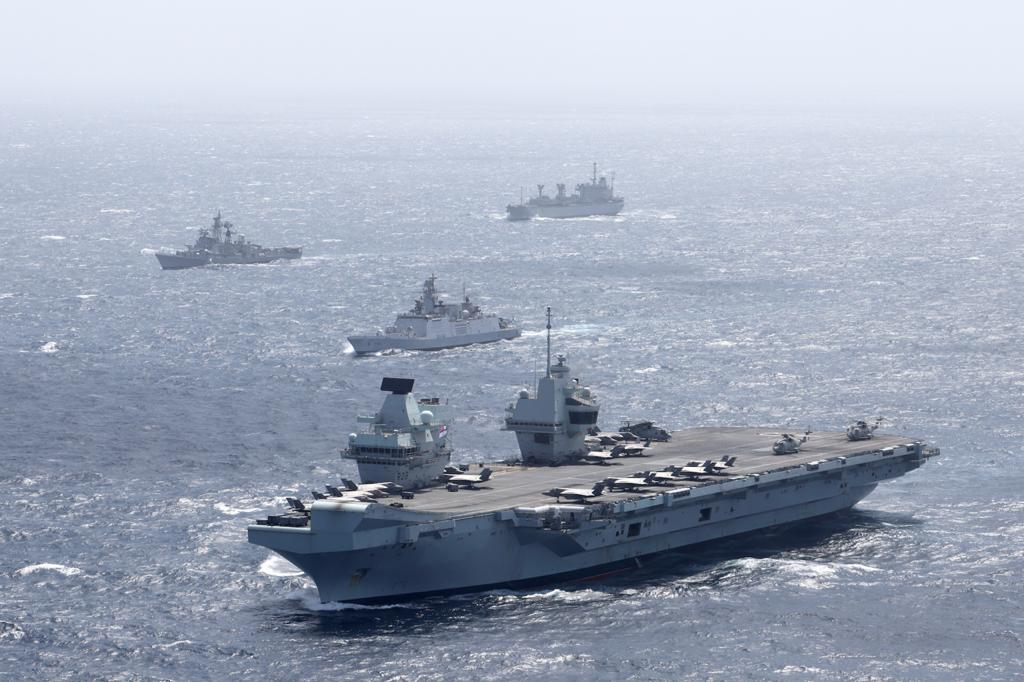 The exercise also witnessed the maiden participation of the F 35 B Lightning which operate from the deck of HMS Queen Elizabeth, added the statement.