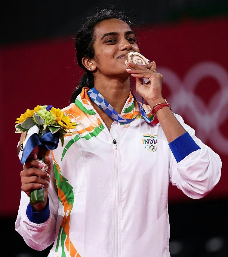 Sindhu beat China's He Bing Jiao 21-13, 21-15 to add a second Olympic medal to the silver she had won in the 2016 Rio Games.